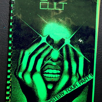 Billy's itinerary book from The Cult Canadian tour -1986