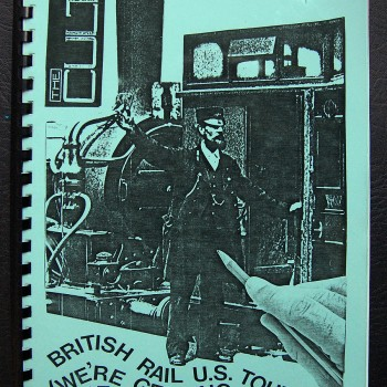 Billy's itinerary book from The Cult U.S. Tour – 1986