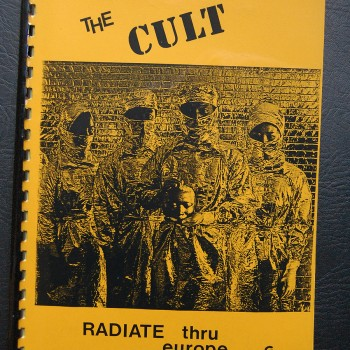 Billy's itinerary book from The Cult European tour – 1986