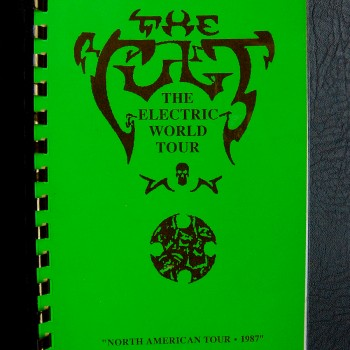 Billy's itinerary book from The Cult 'Electric' Tour – 1987
