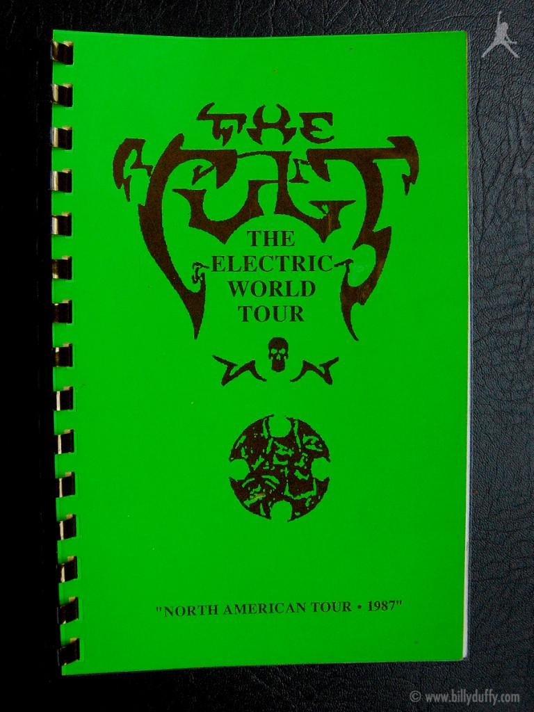 Billy's itinerary book from The Cult 'Electric' Tour - 1987