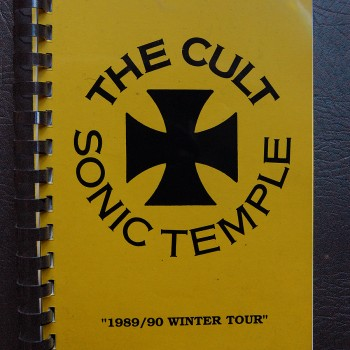 Billy's itinerary book from The Cult 'Sonic Temple' Tour – 1989/90