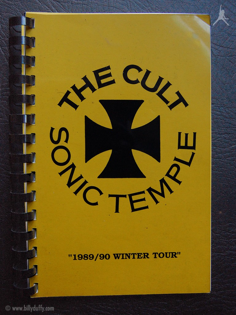 Billy's itinerary book from The Cult 'Sonic Temple' Tour - 1989