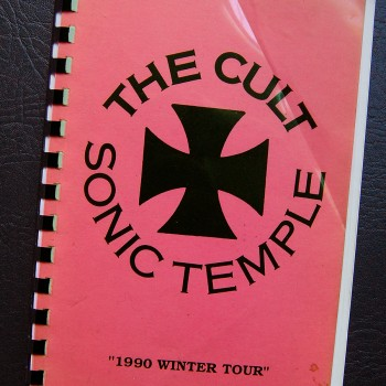 Billy's itinerary book from The Cult 'Sonic Temple' Tour – 1990