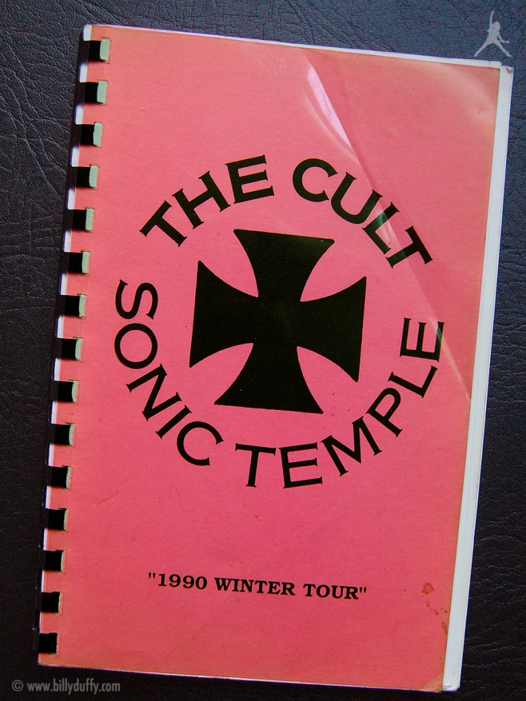 Billy Duffy's itinerary book from The Cult 'Sonic Temple' Tour - 1990