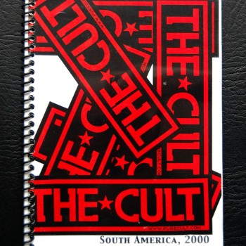 Billy's itinerary book from The Cult South America Tour – 2000.