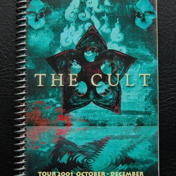Billy's itinerary book from The Cult 'Beyond Good & Evil' Tour – 2001
