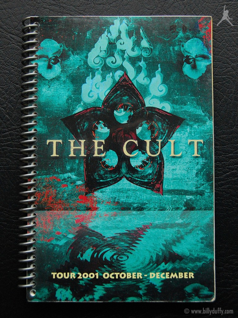 Billy's itinerary book from The Cult 'Beyond Good & Evil' Tour - 2001