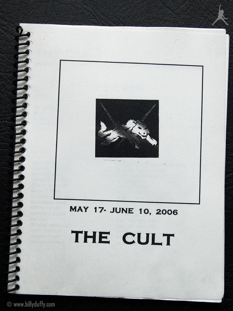 Billy Duffy's itinerary book from The Cult Tour - 2006