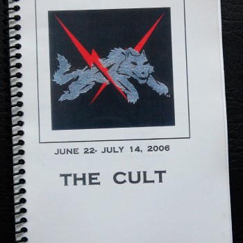Billy's itinerary book from The Cult Tour – 2006