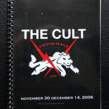 Billy's itinerary book from The Cult 'A Return To Wild' Tour – 2006