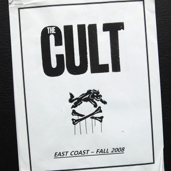 Billy's itinerary book from The Cult 'Born Into This' Tour – 2008