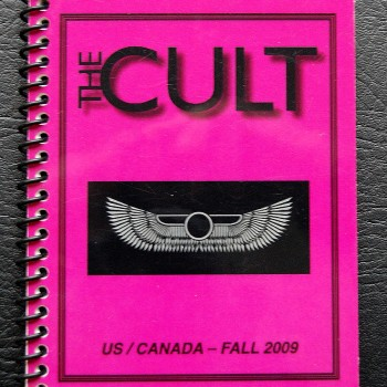 Billy's itinerary book from The Cult 'Love Live' Tour – 2009