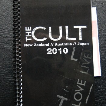 Billy's itinerary book from The Cult 'Love Live' Tour – 2010