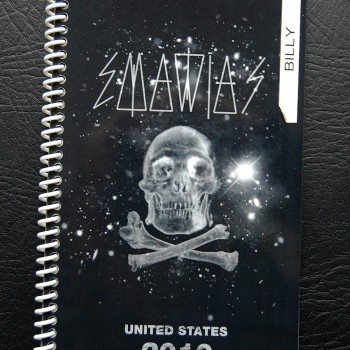 Billy's itinerary book from The Cult 'Capsules' Tour – 2010
