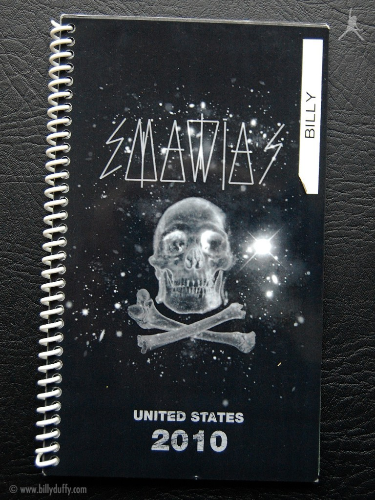 Billy's itinerary book from The Cult 'Capsules' Tour - 2010