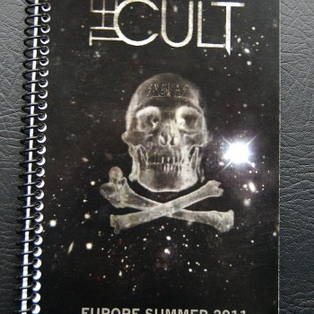 Billy's itinerary book from The Cult 'Capsules' Tour – 2011