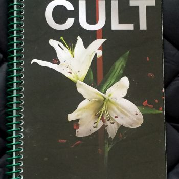 Billy's itinerary book from The Cult 'Alive in the Hidden City' Tour – 2016