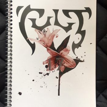 Billy's itinerary book from The Cult 'Alive in the Hidden City' Tour 2017