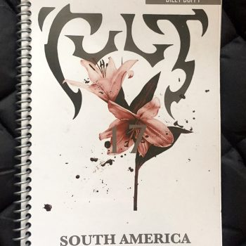 Billy's itinerary book from The Cult 'Alive in the Hidden City' Tour – 2017
