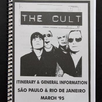 Billy's itinerary book from The Cult in Brazil – 1995