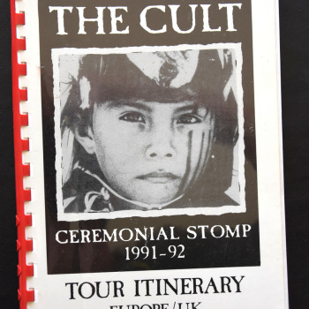 Billy's itinerary book from The Cult 'Ceremonial Stomp' Tour -1991