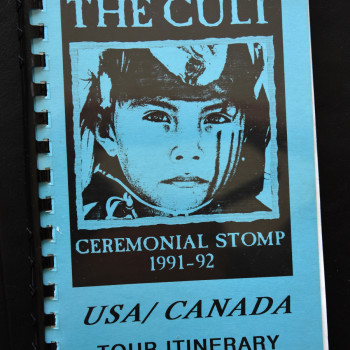 Billy's itinerary book from The Cult 'Ceremonial Stomp' Tour -1992