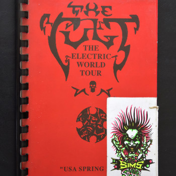 Billy's itinerary book from The Cult 'Electric' Tour' USA – May 1987