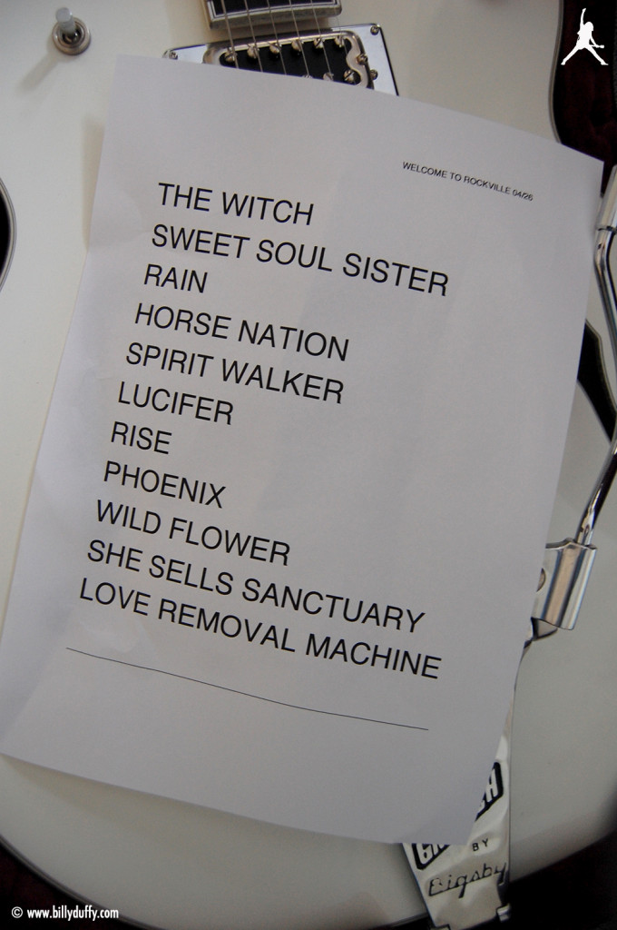 The Cult Set List 26-04-2014