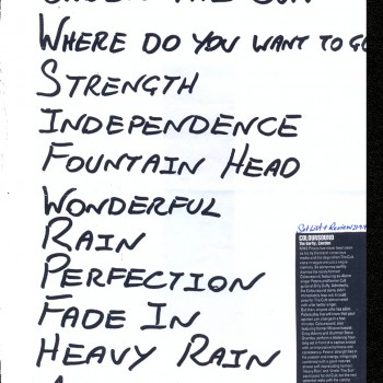 Coloursound set list 21-09-1998