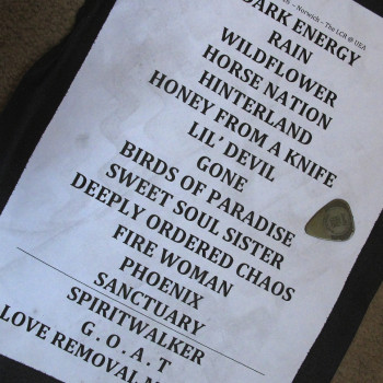 The Cult Set List 10-03-2016