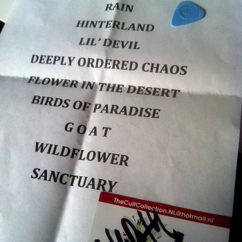 The Cult Set List 23-02-2016