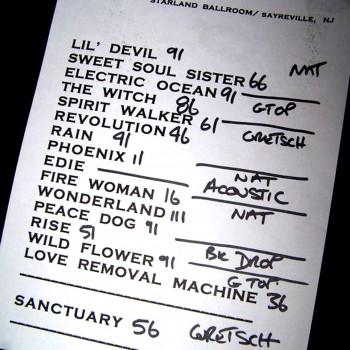 The Cult Set List 07-11-2006