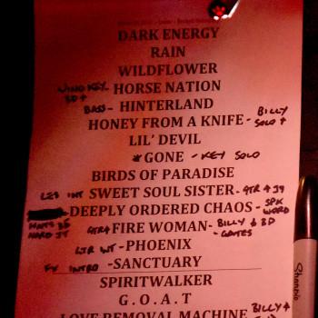 The Cult Set List 08-03-2016