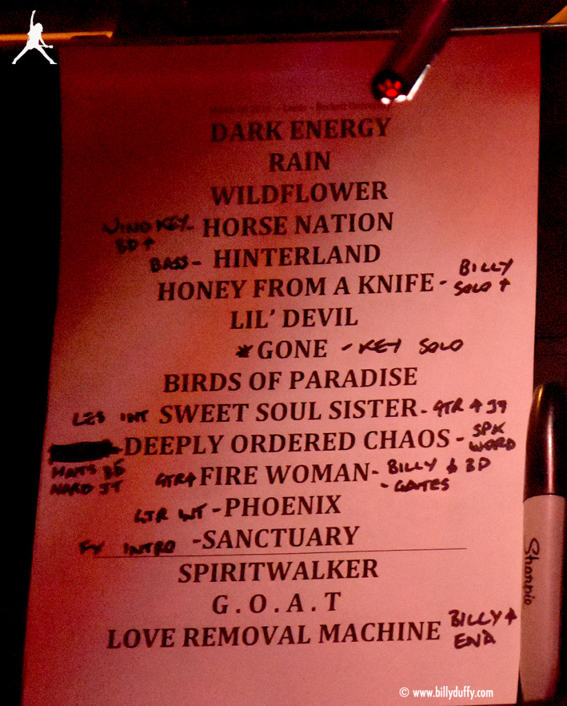 The Cult Set List 08-03-2016