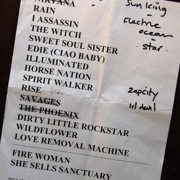 The Cult Set List 24-05-2008