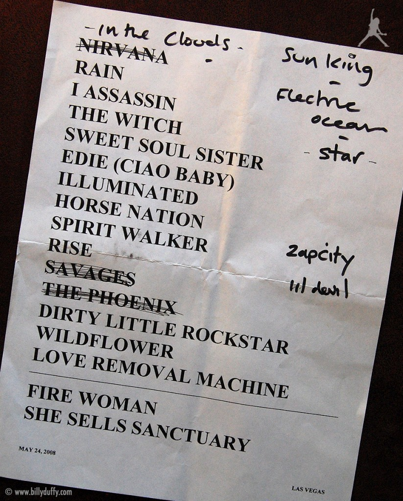 The Cult Set List 24-05-2008