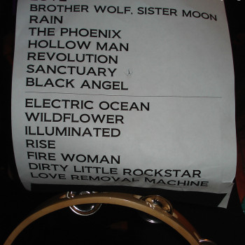 The Cult Set List 22-08-2009