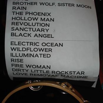 The Cult Set List 22-08-2009