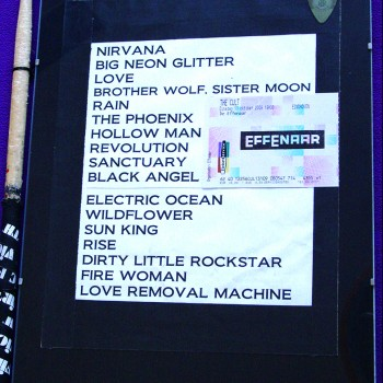 The Cult Set List 13-10-2009