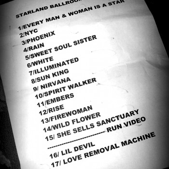 The Cult Set List 30-10-2010