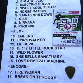 The Cult Set List 02-06-2011