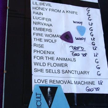 The Cult Set List 10-07-2012