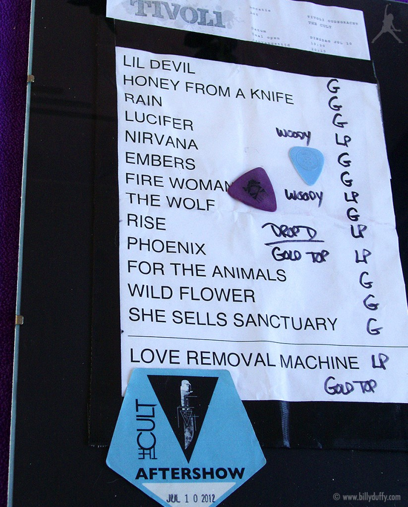 The Cult Set List 10-07-2012