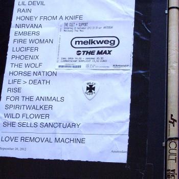 The Cult Set List 20-09-2012