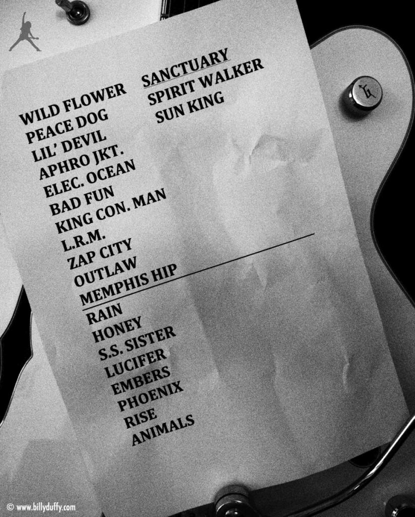 The Cult Set List 25-07-2013