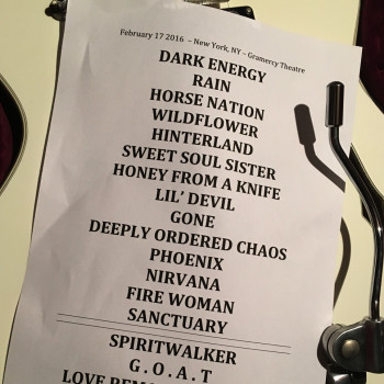 The Cult Set List 17-02-2016