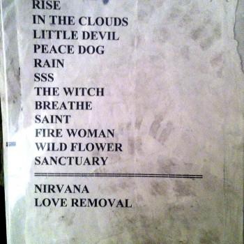 The Cult Set List 05-05-2001