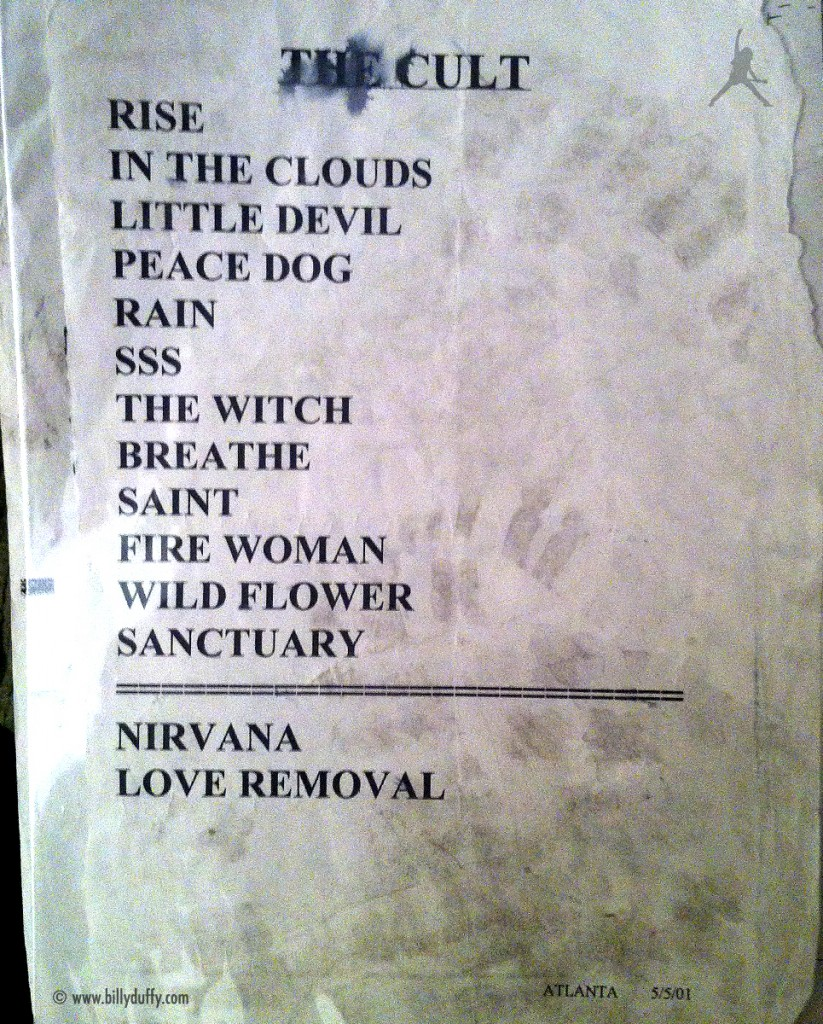 The Cult Set List 05-05-2001