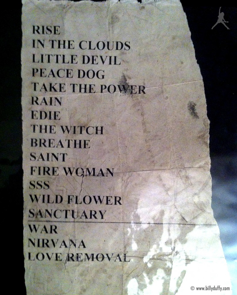 The Cult Set List 21-07-2001